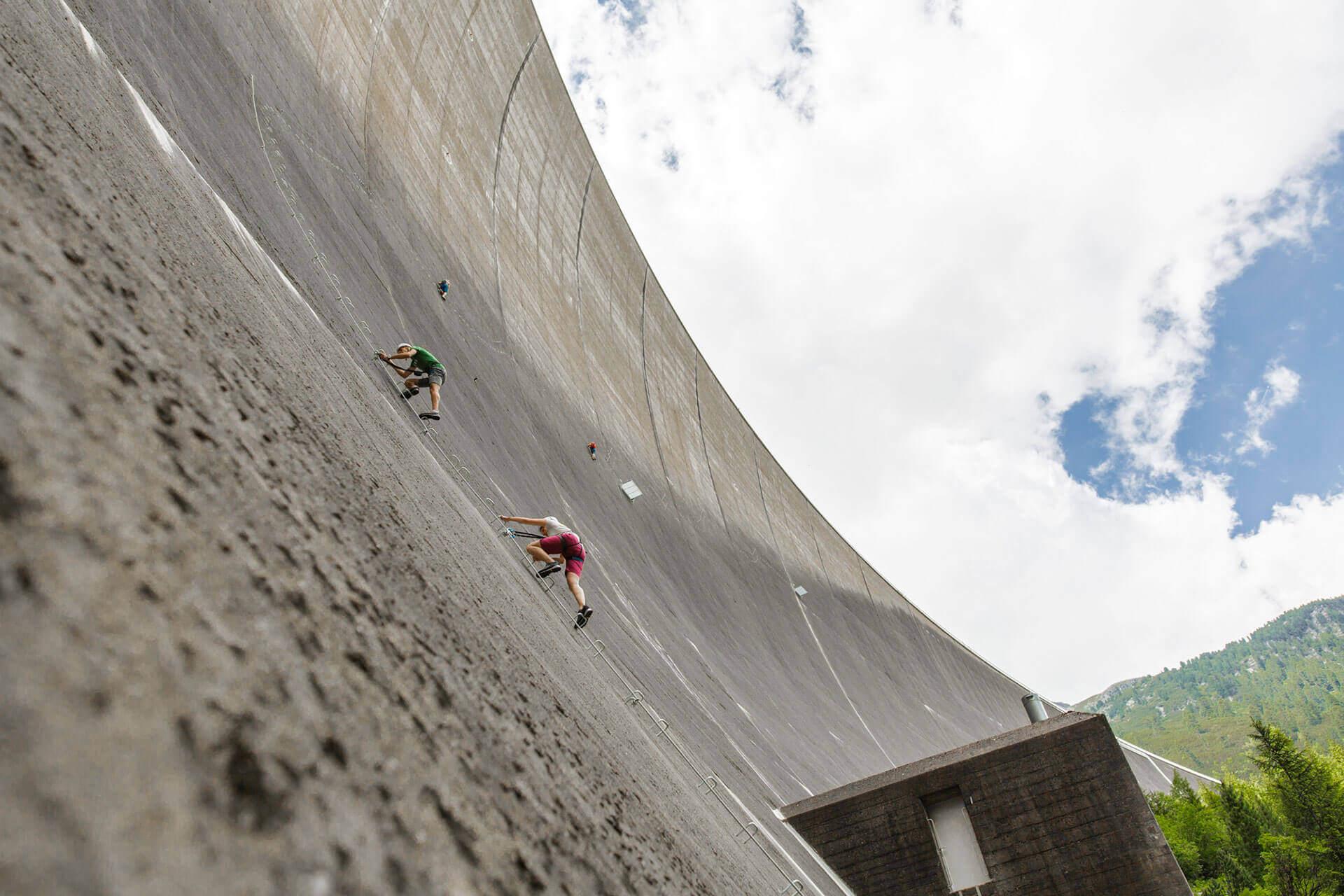 Klettersteig an der Staumauer Schlegeis