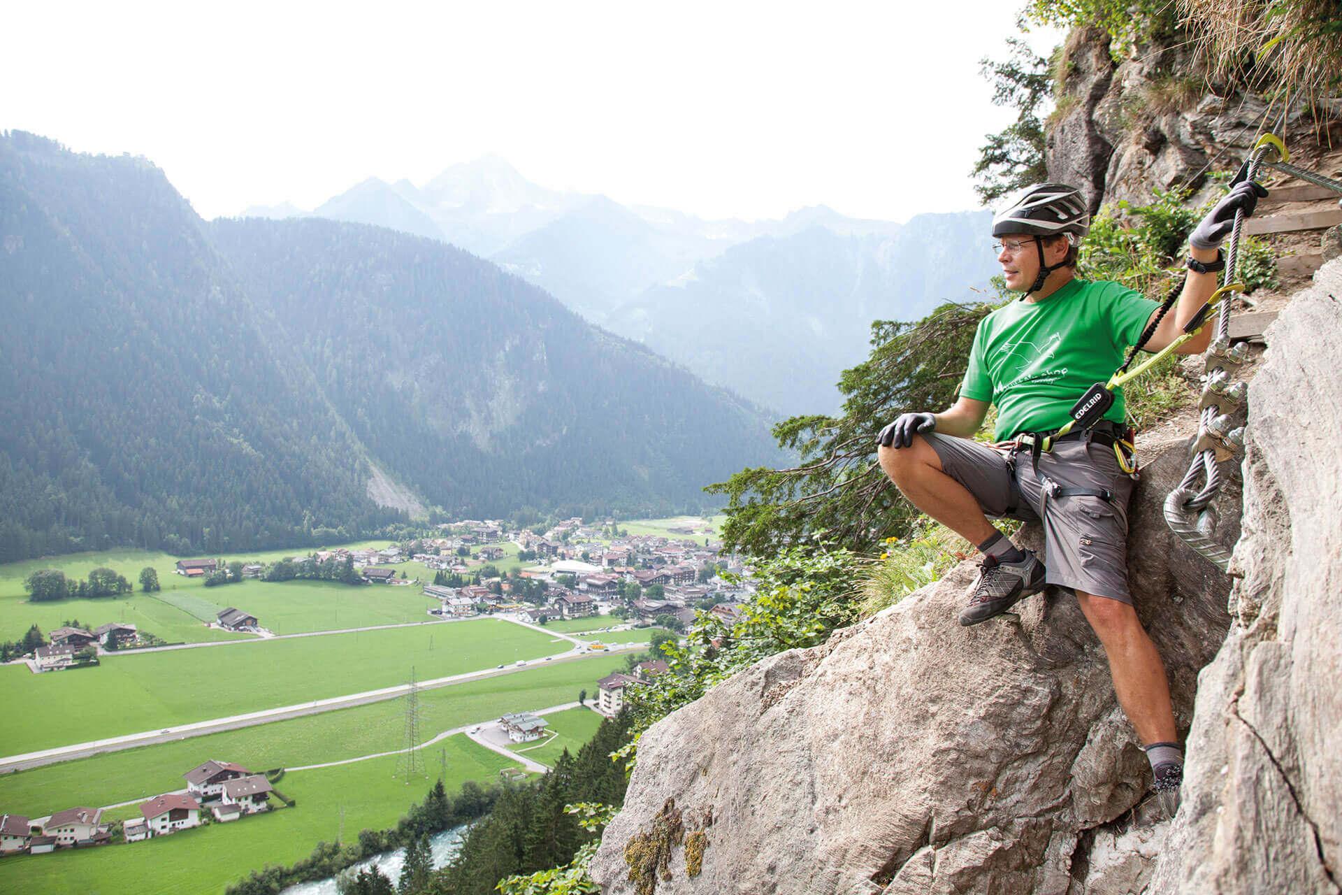 Ausblick vom Klettersteig Zimmereben